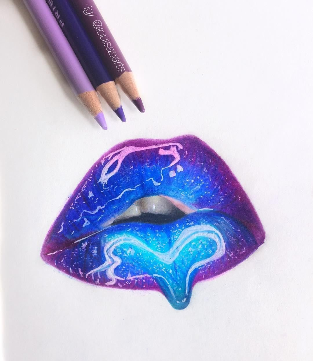 Louisasarts Creates A Glossy Finish To These Full Defined Lips