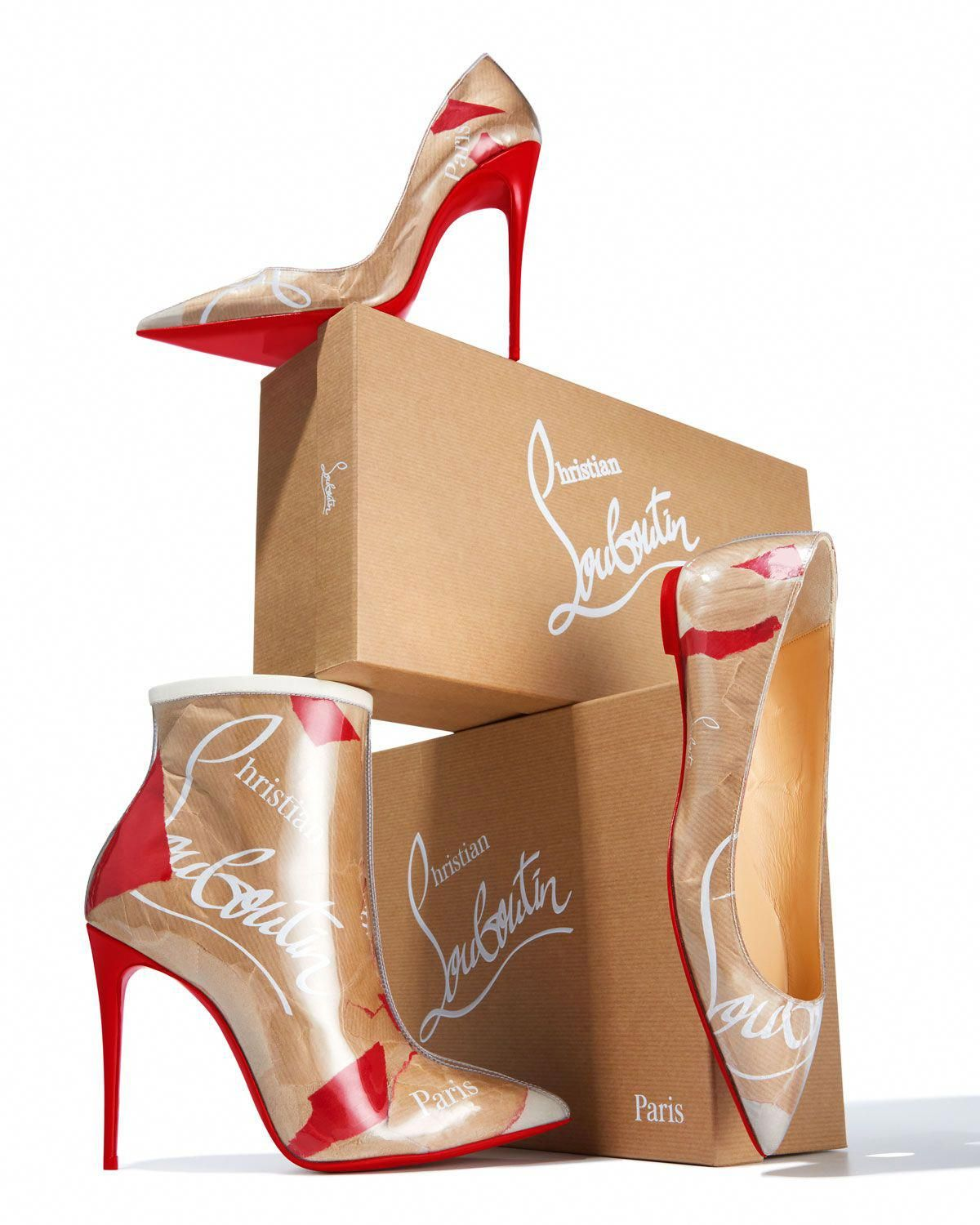 free shipping d200b 64164 Christian Louboutin Ballalla Paper Collage Red Sole ...