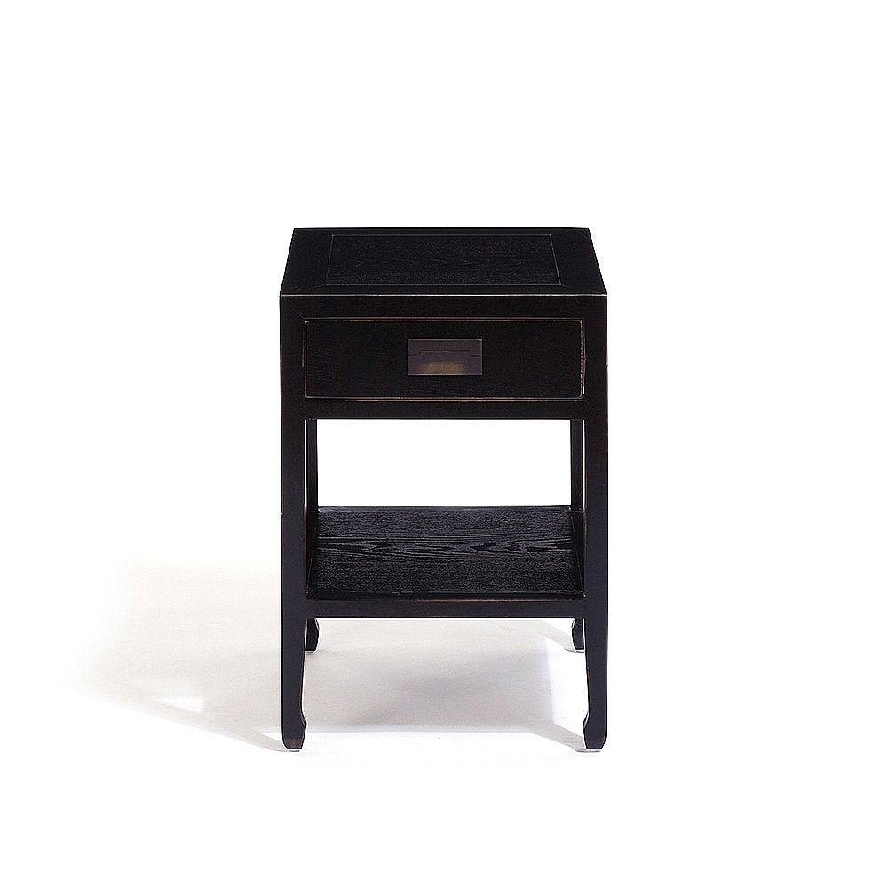 Canton Bedside Table Antique Brass Dark Wood Bedroom In 2020