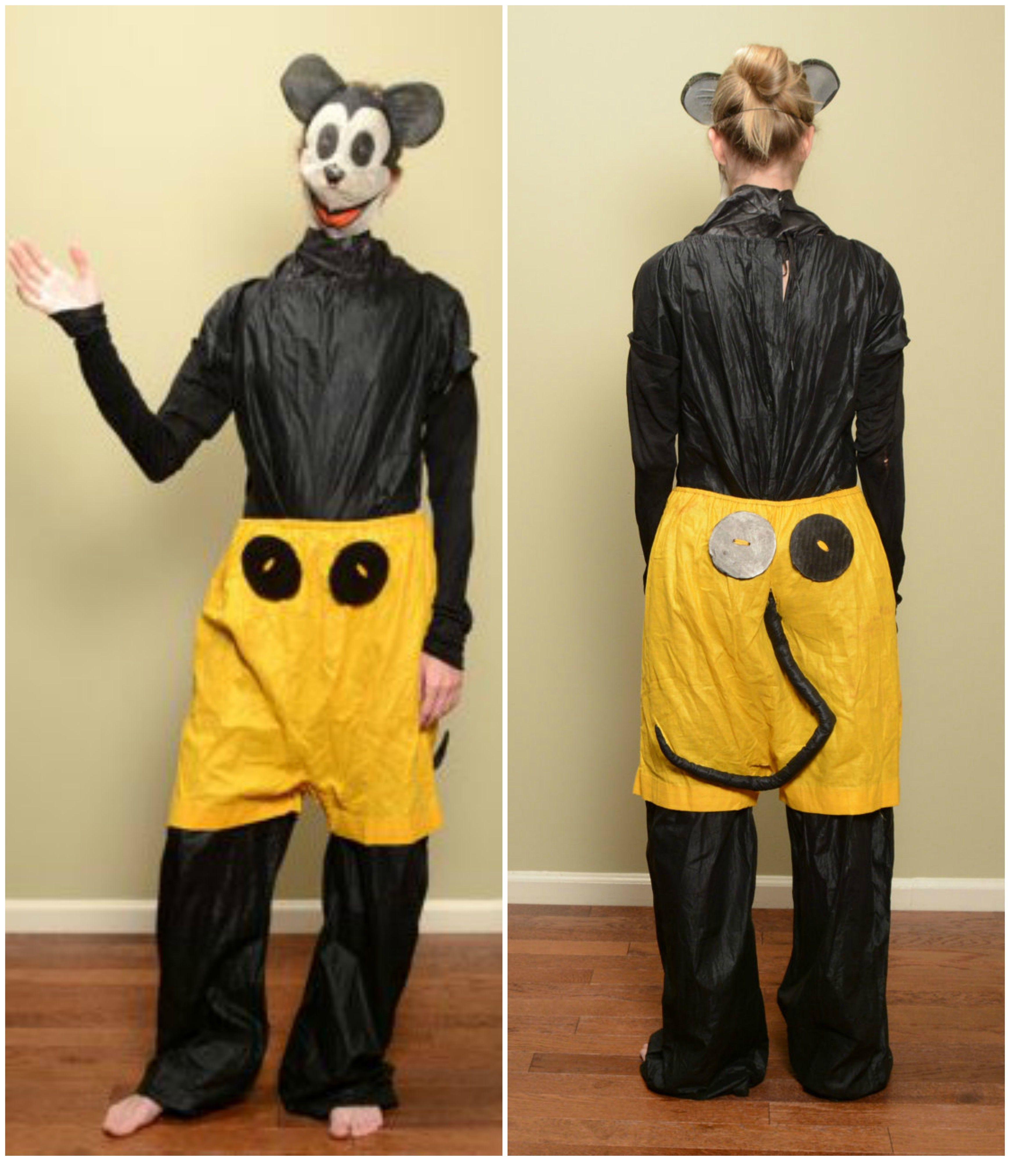 Vintage Mickey Mouse costume 1930s Spotlite Costumes mesh gauze ...
