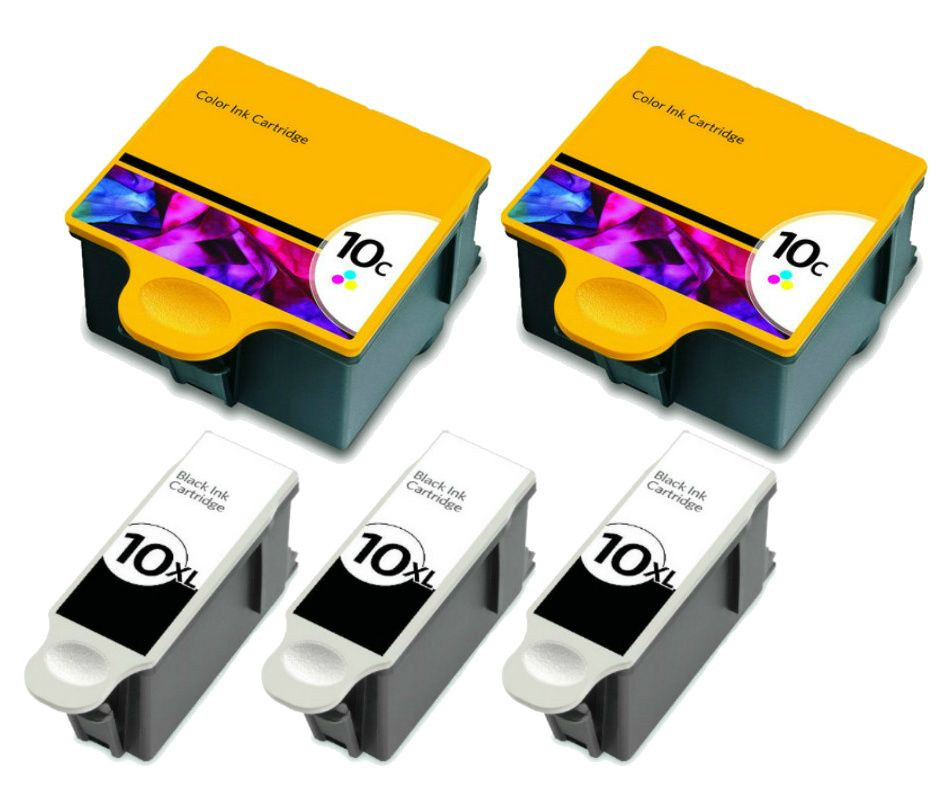 Kodak 10XL Black Ink Cartridge 2 Pack in Bulk Packaging for Kodak ESP 3250 5250 7250 9250 Hero 7.1 9.1