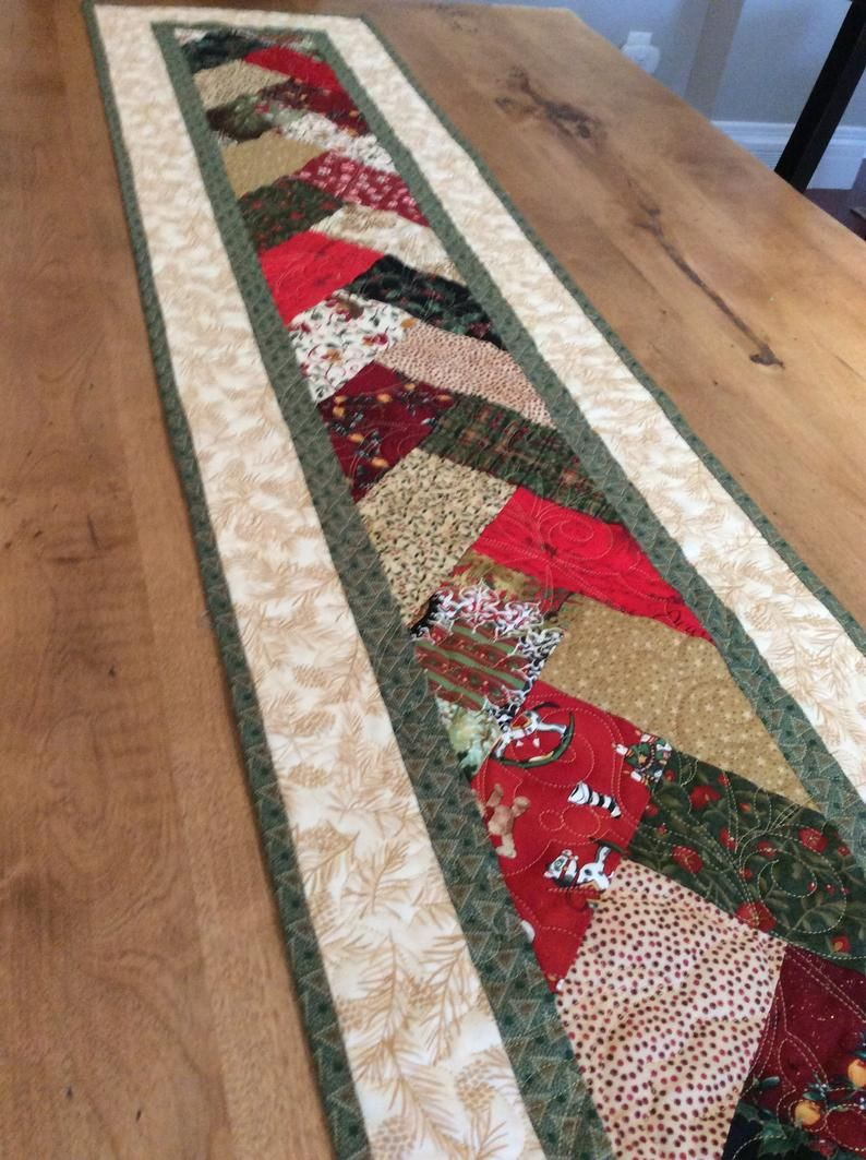 Autumn Tablerunner Christmas Gifts, New Home Gifts Gifts for the Home Home Decor Patchwork Quilted Table Topper Quilted Table Runner