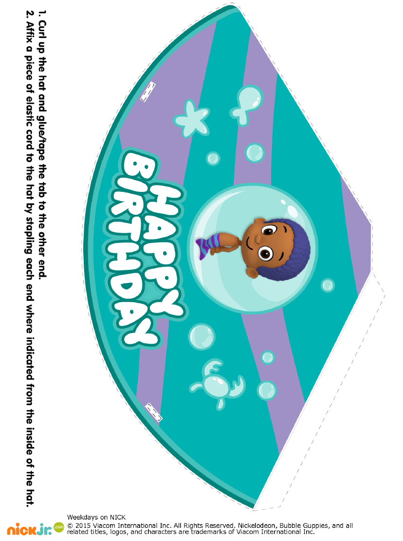 When Did Bubble Guppies End : bubble, guppies, Http://www.nickelodeonparents.com/bubble-guppies-party-hats/, Bubble, Guppies, Birthday, Party,, Birthday,, Themes