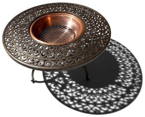 Strathwood St Thomas Cast Aluminum Fire Pit With Table Amazon Patio