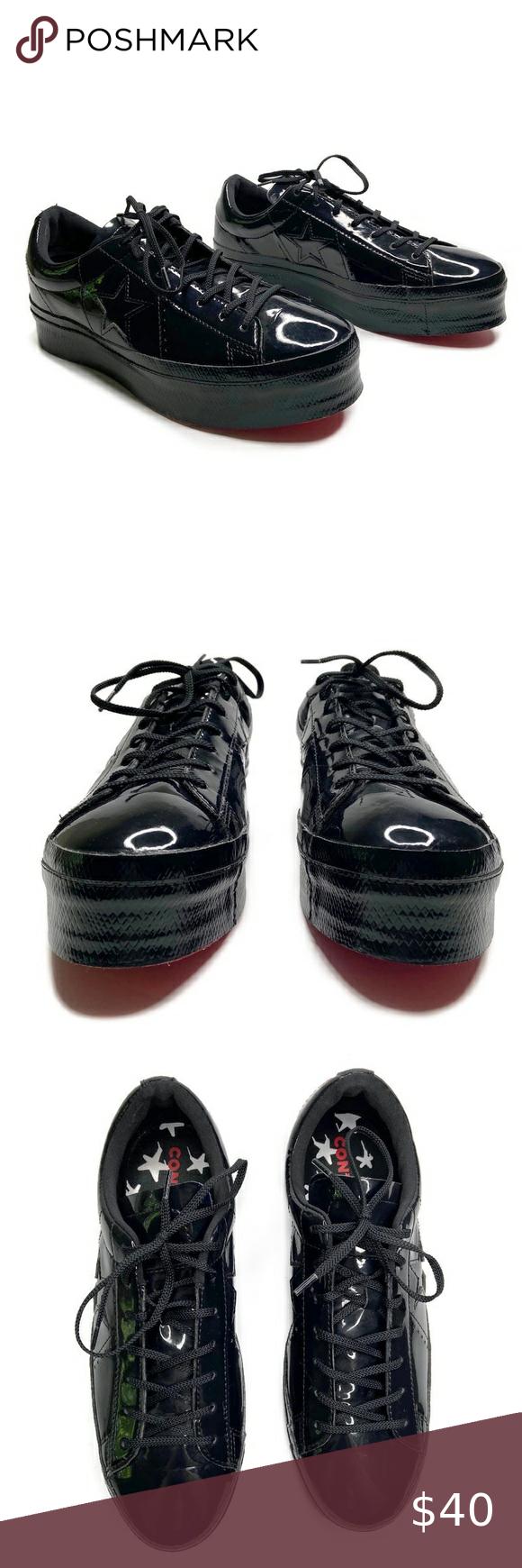 one star patent platform sneaker