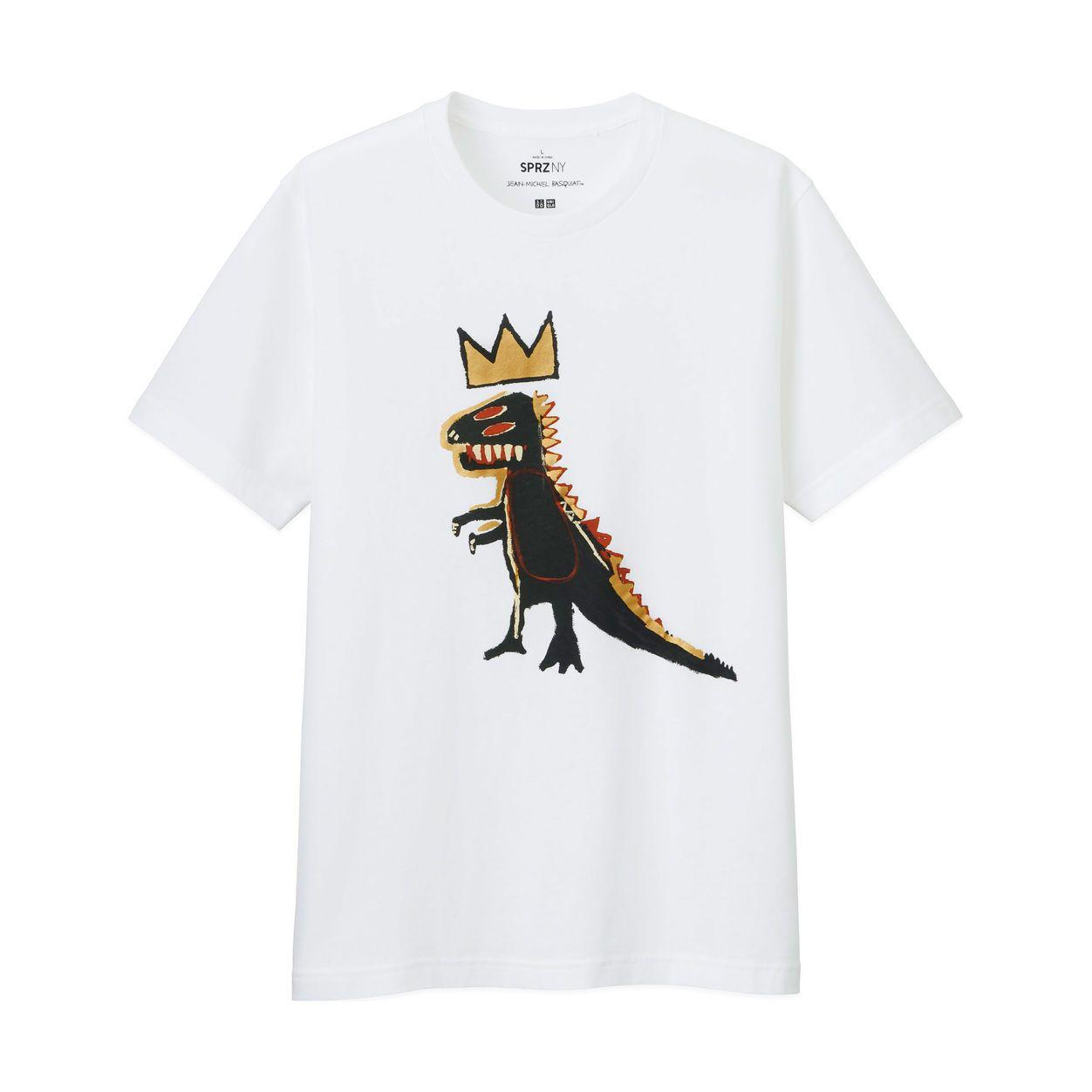 8e32cc2fc1 UNIQLO Jean-Michel Gold Dinosaur T-Shirt in color White