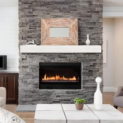 Pin On Faux Stone Fireplaces