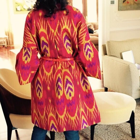 Absolutely stunning Ikat Print 100 Silk Coat NWT in 2018 ⋆ ikat