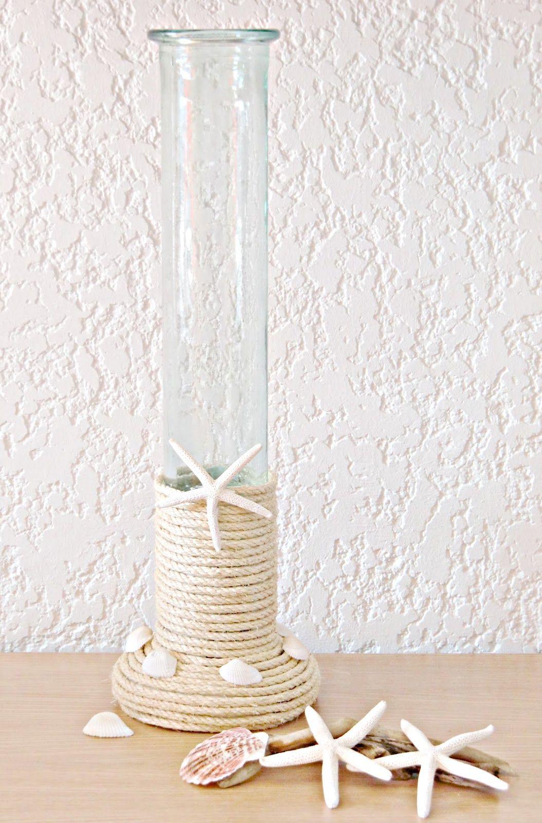 Coastal Inspired Sisal Vase -very elegant!