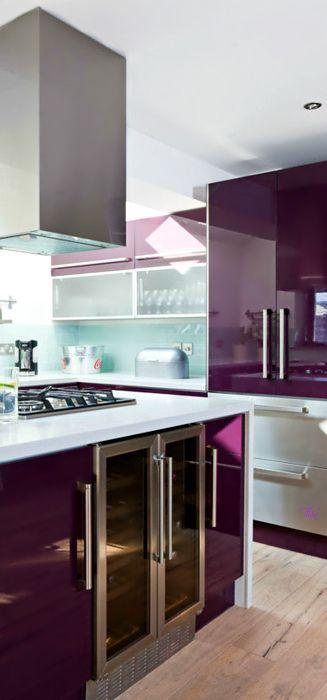 10 id es de d coration d int rieur violet cuisine cuisine violet int rieur violet et decoration - Deco cuisine violet ...