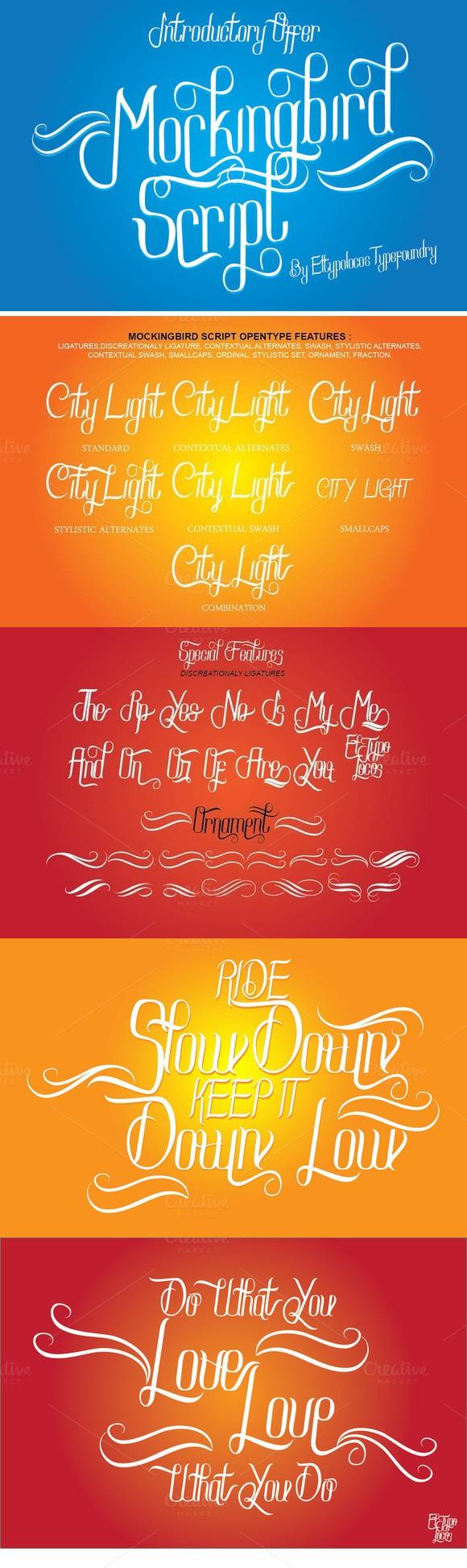 Mockingbird Script | Fonts