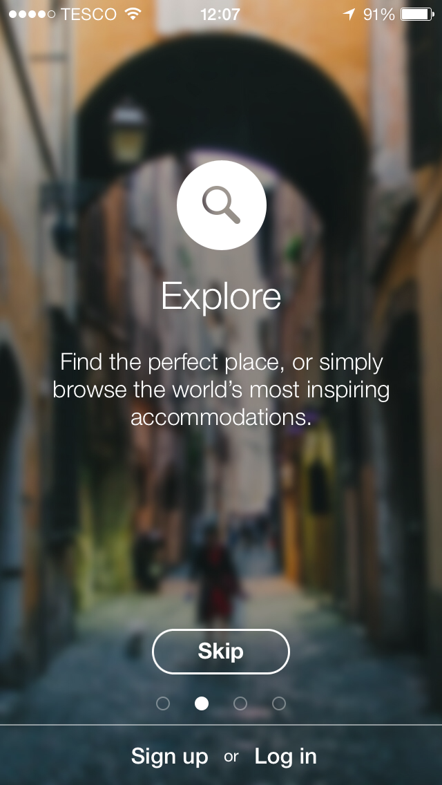 Onboarding Airbnb With Images Mobile App Design App Design