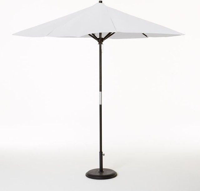 Superieur White Patio Umbrellas Round Wooden Umbrella, White Modern Outdoor Umbrellas