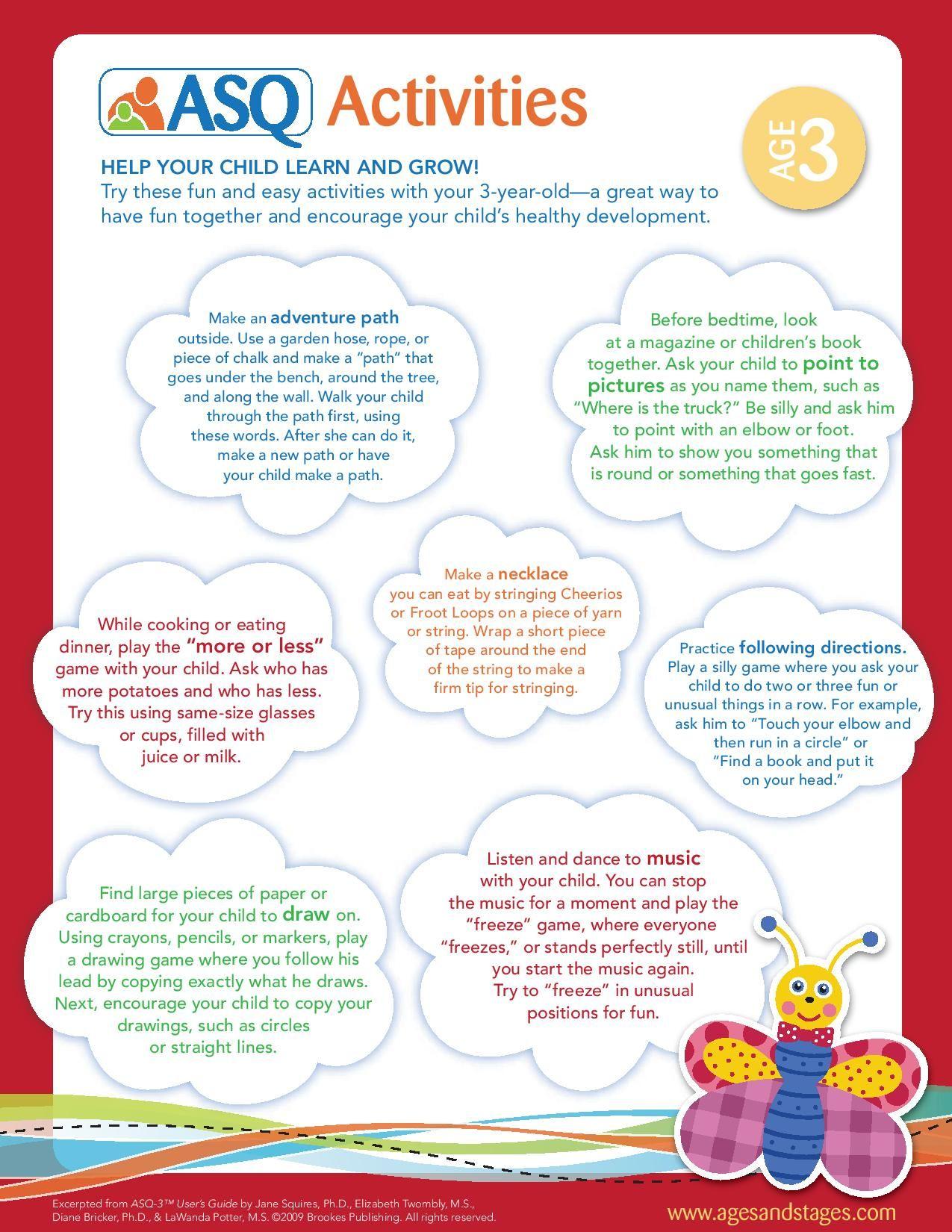 Age 3 Activities Activities Kids Learning Help Me Grow