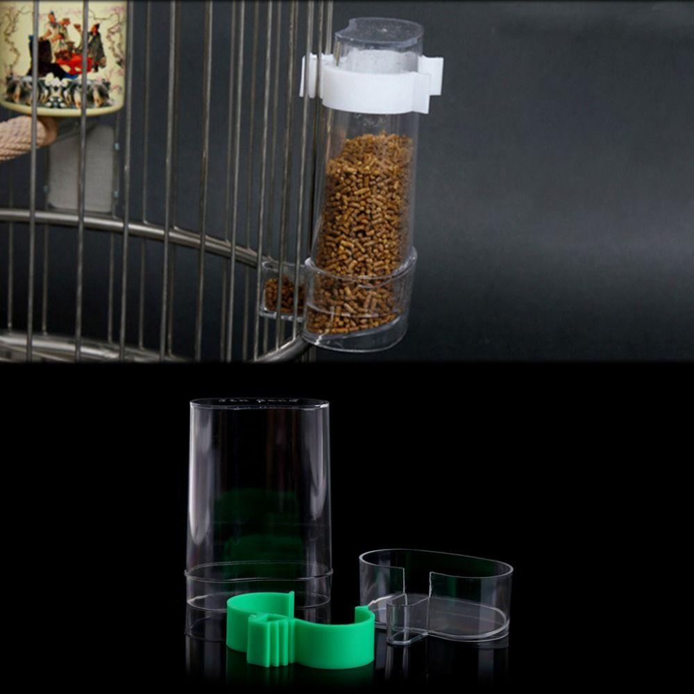 Plastic Round Bird Parrot Aviary Pet Cage Water Food Feeder Feeding Bowl Food Feeder Food Bowl Bowl