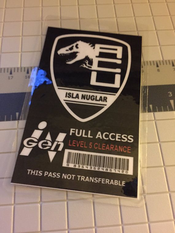 Jurassic World ACU ID Badge Park Pass Asset By L9Creative