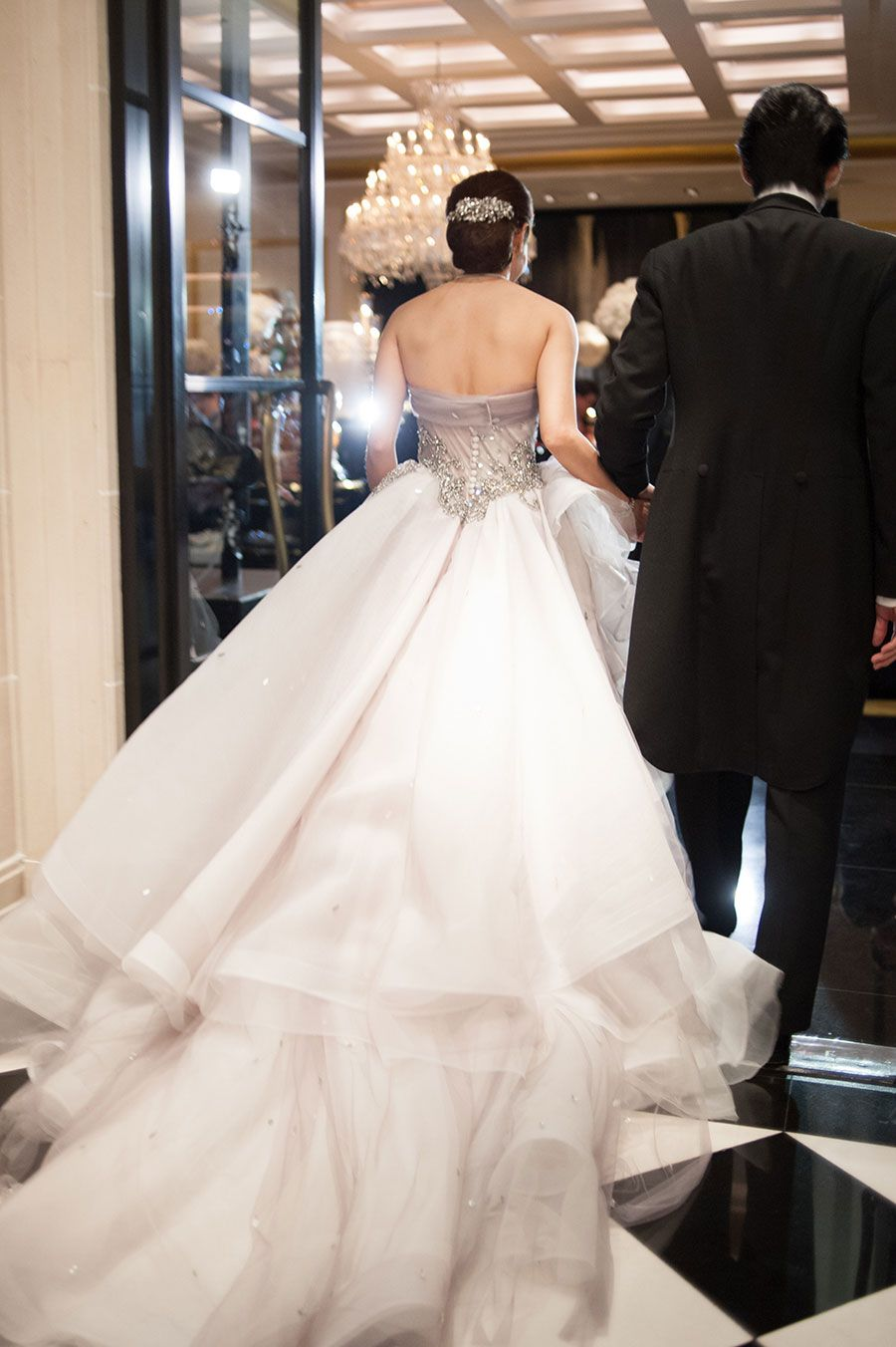 Wedding ball gown with embellished bodice by tex saverio jeffrey