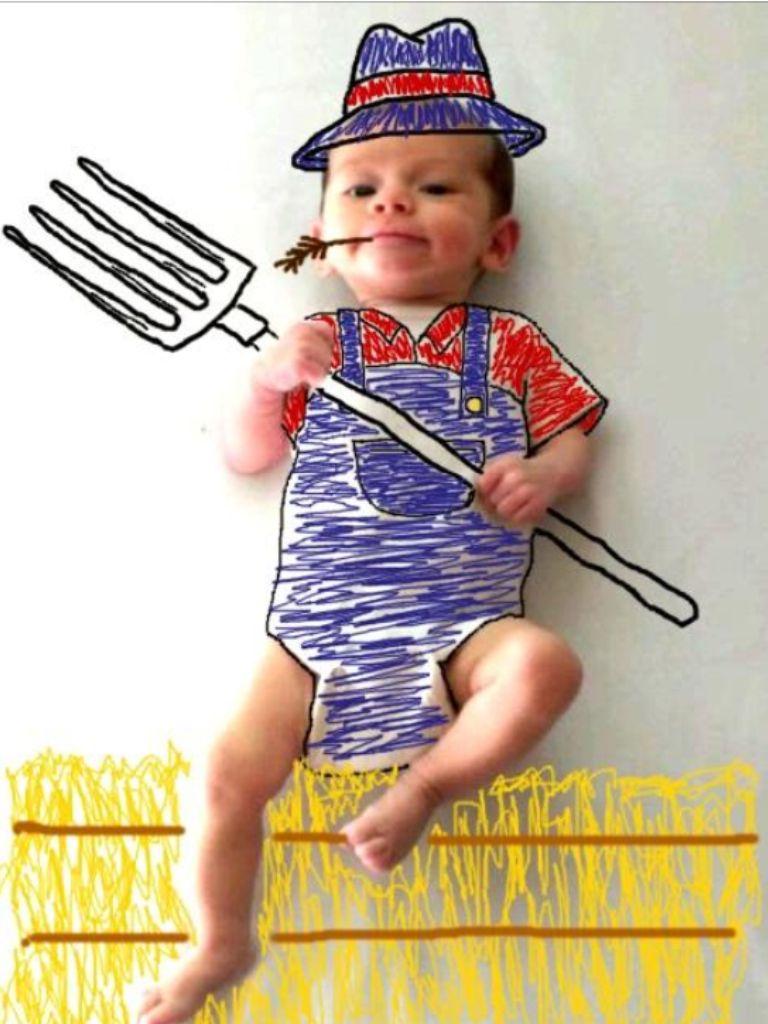 Funny baby farmer  ebbc4e31325