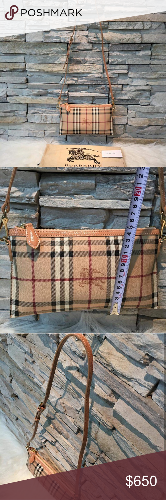 Authentic Burberry Sling AUTHENTIC Burberry Sling bag with dustbag and  card. Good as new. 51242a75bf