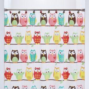 Serena Guest Bathroom Vinyl Shower Curtains Owl Kitchen Decor Owl Bathroom