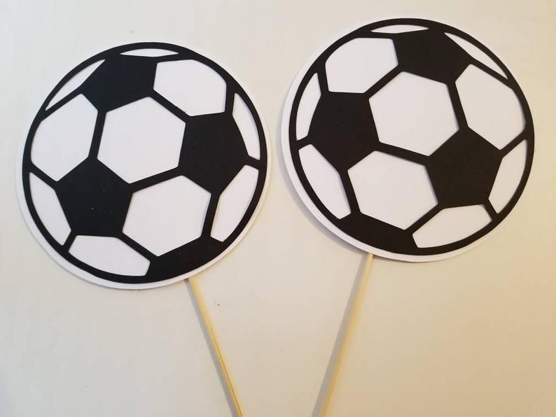 Soccer Ball Centerpiece Set Of 3 Soccer Ball Party Etsy Etsy Party Handmade Unique Items Products