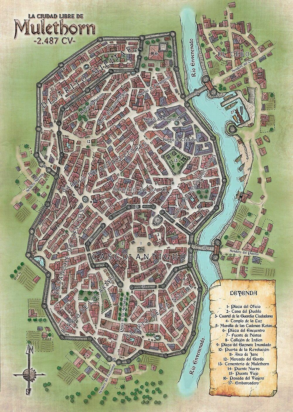 Fantasy City Maker : fantasy, maker, Farrar, Mapas, Fantasy, World, Maker,