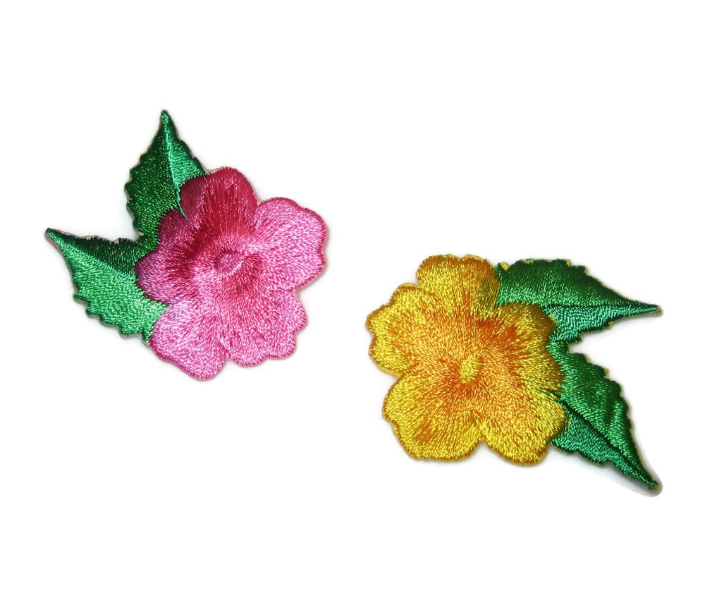 """Set Of 2 Girl In Pink Embroidered Iron On Applique Patch Each 1 1//8/""""H"""