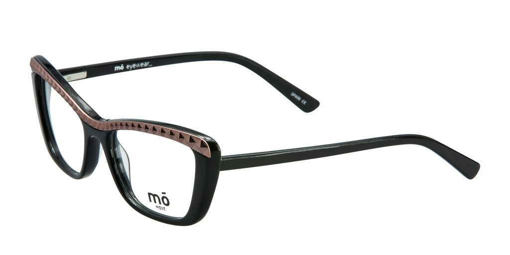 MO EYEWEAR Black and Copper Acetate and Metal Eyeglass Frames Alexis ...