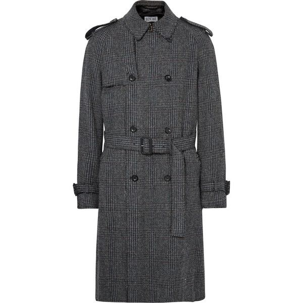 Loewe Checked Wool, Mohair and Cashmere-Blend Tweed Coat ($2,450 ...