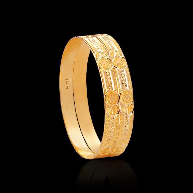 5ce40246e50 Traditional Gold Bangles, Hollow & Flat Bangles Design - Zar Jewels ...