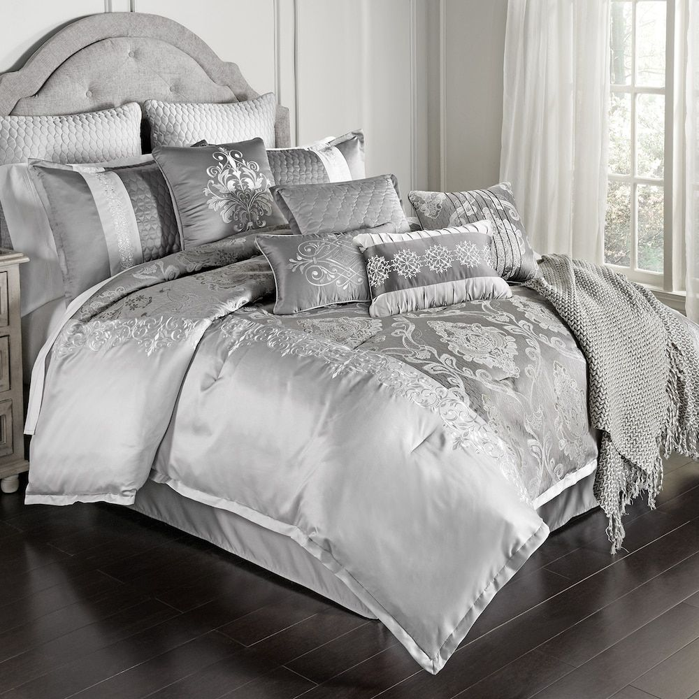 Riverbrook Home Kacee 12 Piece Comforter Set Grey Queen