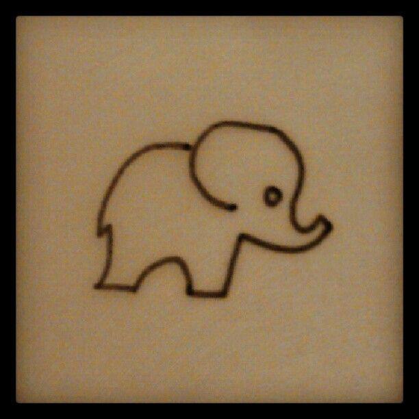 Elephant Tattoo Quotes: Elephant Line Design