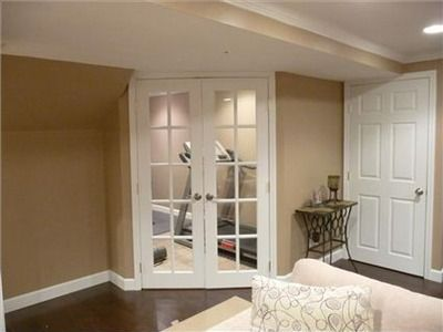 French Doors To Workout Room Basement Ideas In 2019