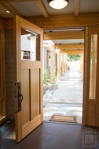 Reclaimed Douglas fir entry door