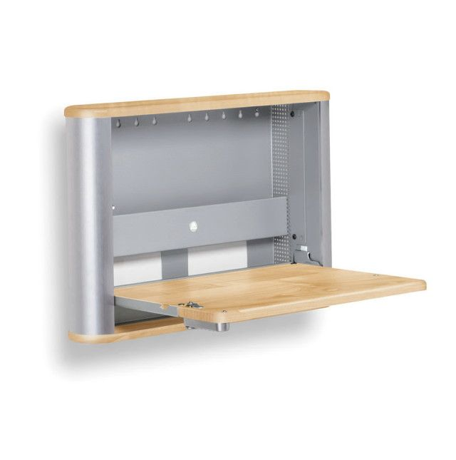 statuette of wall mounted folding desk ideas for small space living