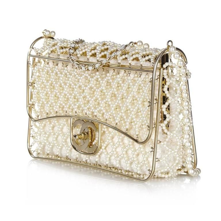 5eb9ee973898e0 Chanel Pearl Classic Flap Bag in 2019 | bags | Chanel pearls, Bags ...