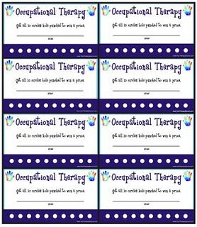 Punch Card Coupons For Ot Downloadable Therapy Punch Cards Card Templates Free
