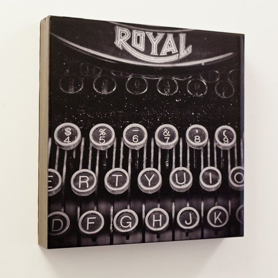 I love this piece, i have a framed copy in my hallway!  Royal B/W 12x12 by numba9 on Etsy, $150.00 #antique #typewriter