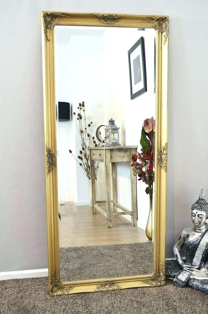 Fancy Full Length Mirror Vintage Frame