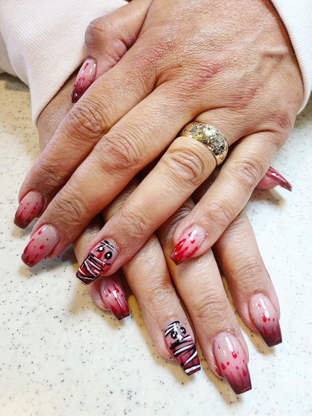 Best Halloween Nail Ideas in 2019 | Short coffin nails ...