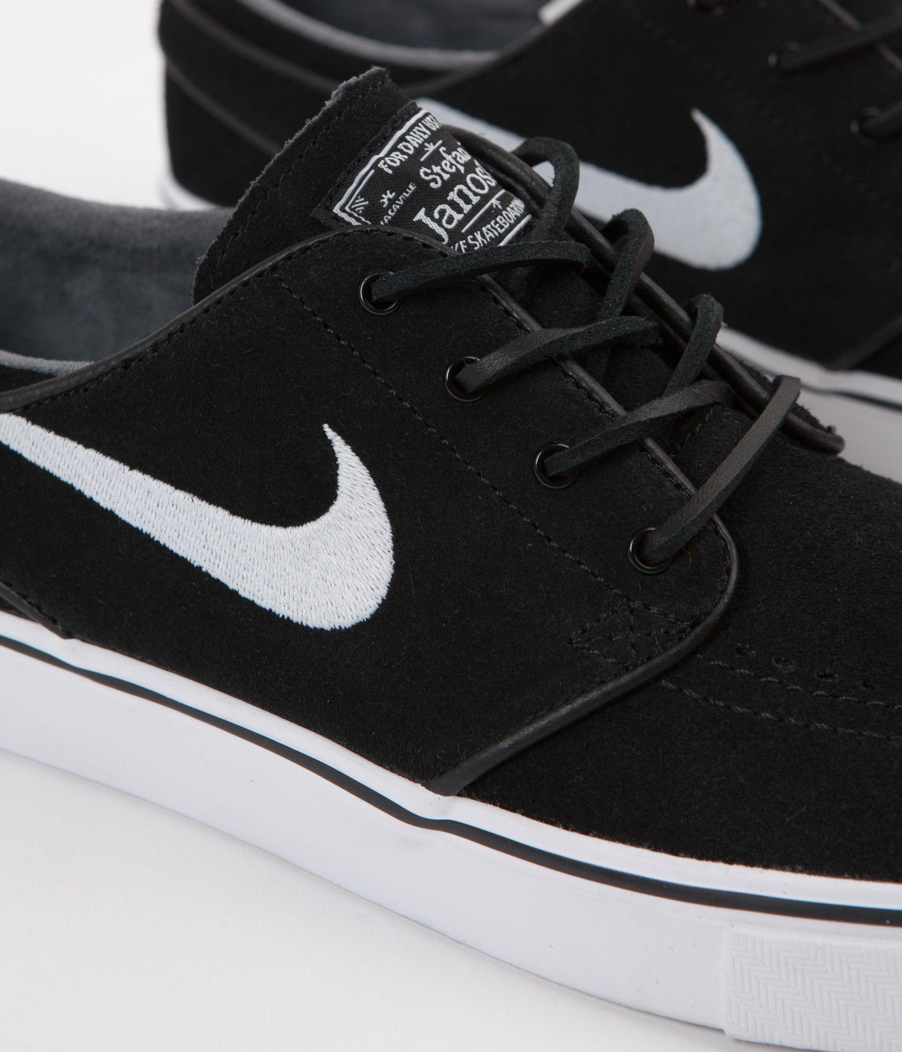 Nike Sb Stefan Janoski Og Shoes Black White Gum Light Brown Cute Nike Shoes Custom Nike Shoes Black Shoes