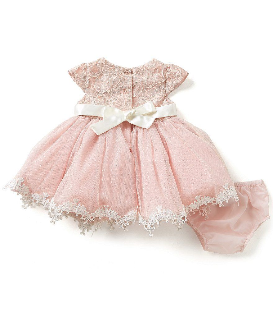 e5a7c32999e9 Rare Editions Baby Girls 3-24 Months Sparkle-Lace-Overlay-Bodice Ballgown