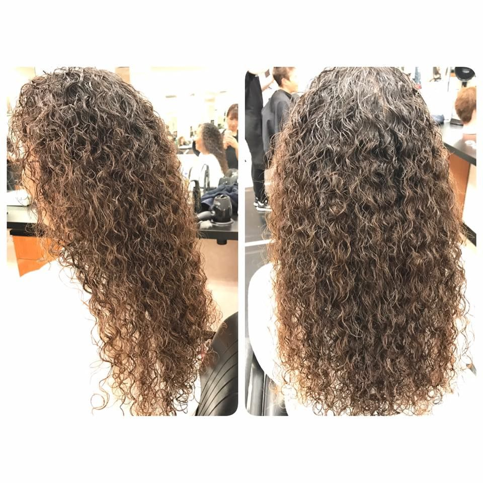 Piggyback Perm Results After Drying Permed Hairstyles Curly Hair Styles Long Curls