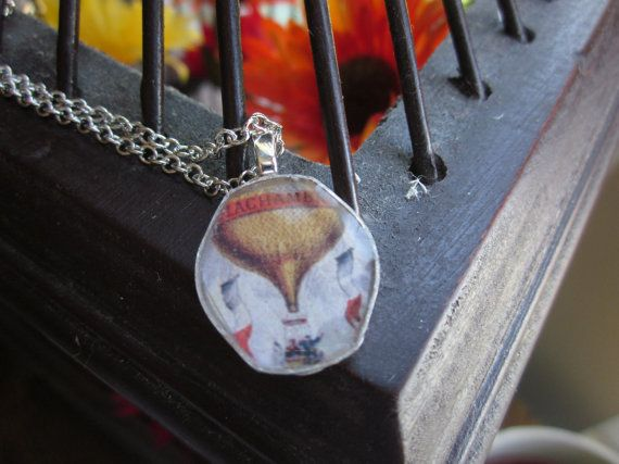 The Beaulah Necklace  Vintage OOAK Watch Back and by SeizeTheNight, $15.00