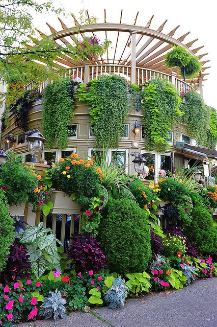 Cafe In Niagara On The Lake Beautiful Gardens Beautiful Places Places Around The World