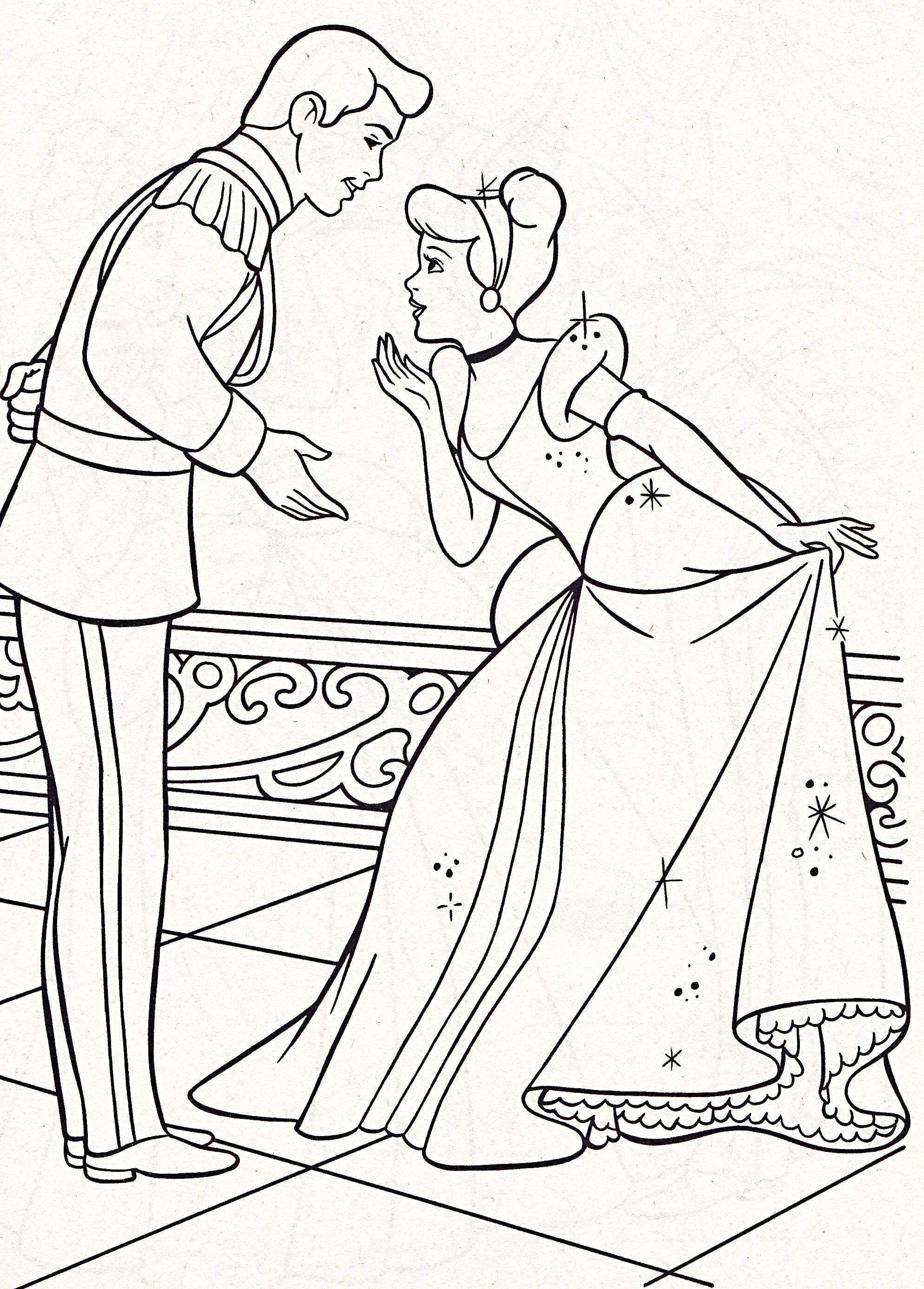 cinderella and prince coloring pages - Google Search | ♡ Disney ...