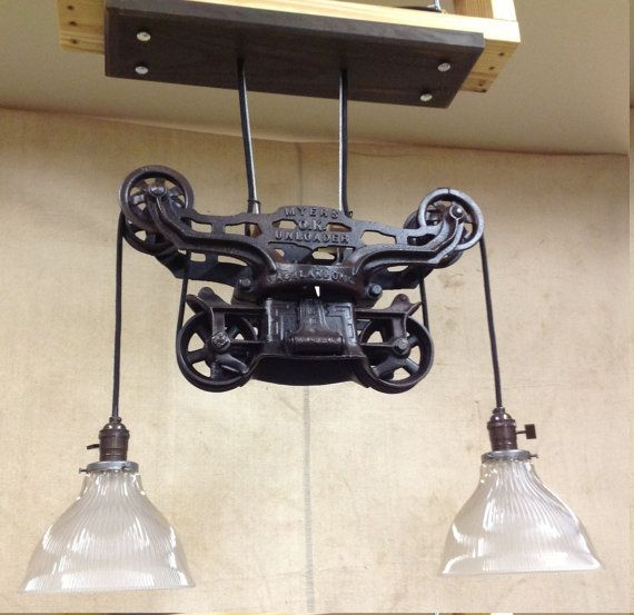 Vintage And Industrial Lighting From Etsy: Vintage Hay Trolley Light By PrimmRdDesigns On Etsy, $545