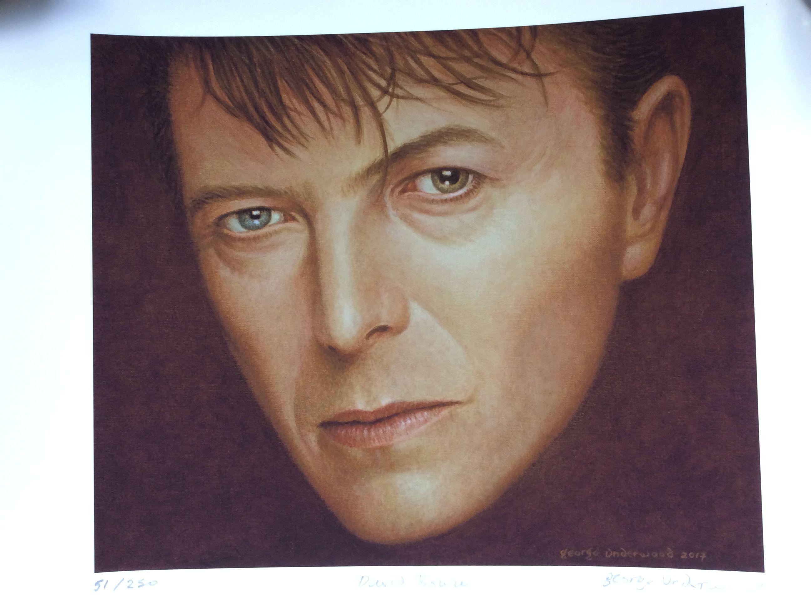 By George Underwood Bowie Art David Bowie Art David Bowie Art Print