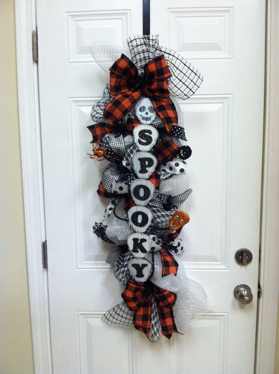 Halloween Swag by CreationsbyMsConnie on Etsy, $55.00