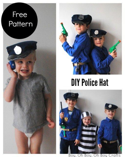 41adde9b47f Printable Police Hat Sewing Pattern - Beatnik Kids